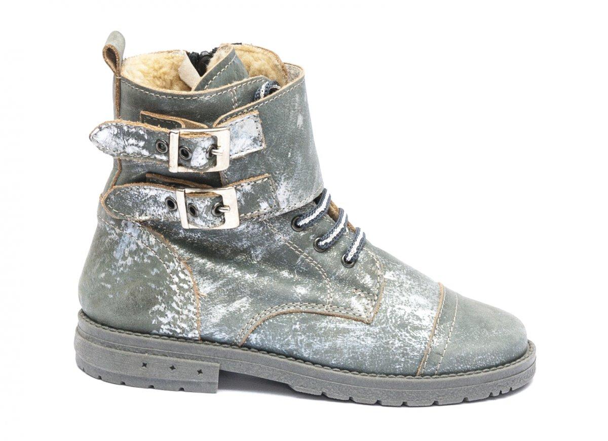 Ghete fete blana pj shoes Army gri 31-36