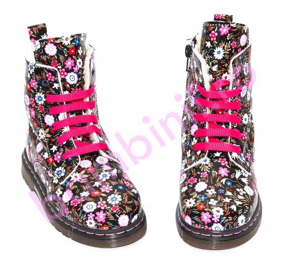 Ghete fete blana pj shoes King print roz 27-36