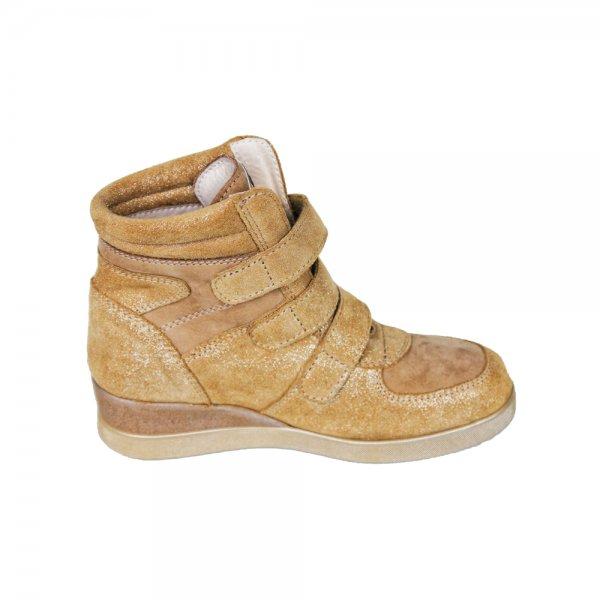 Ghete fete cu platforma pj shoes Geppi bej 31-37