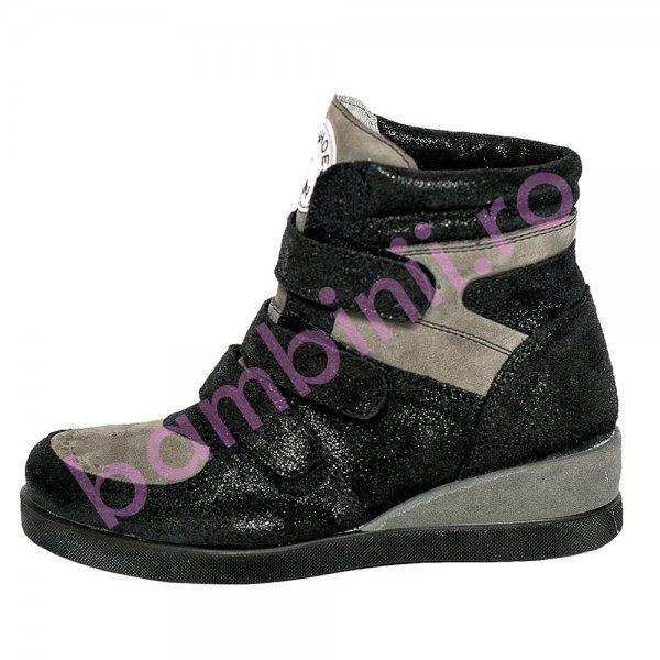 Ghete fete cu platforma pj shoes Geppi negru 31-37