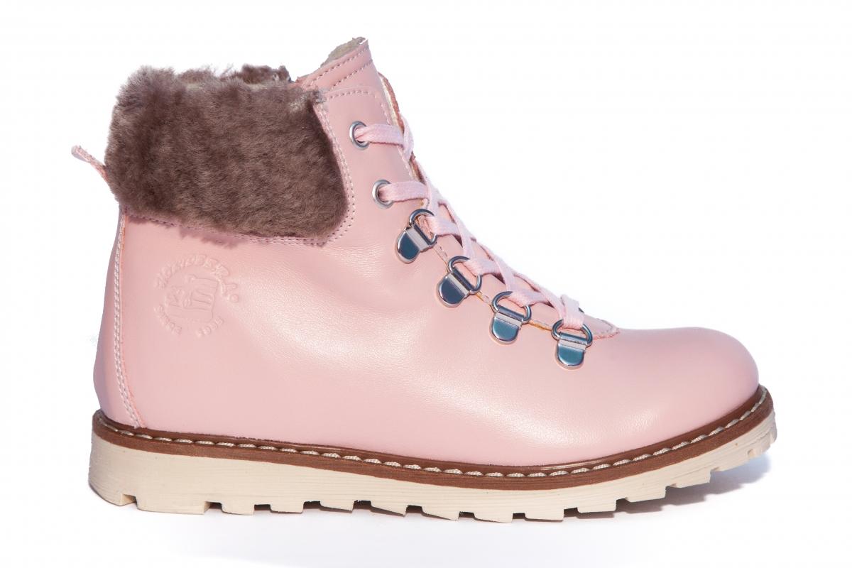 Ghete fete iarna cu blana hokide 365 roz pal 28-37