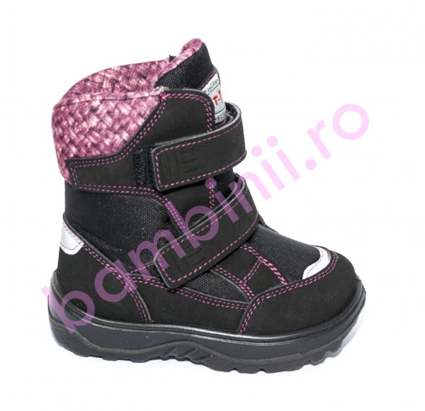 Ghete fete impermeabile Gtx 93695 negru roz 20-25