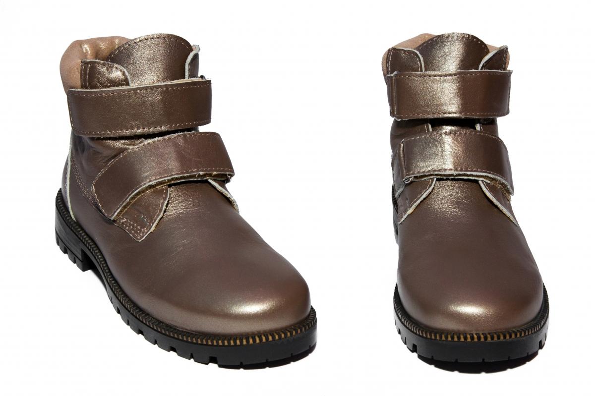 Ghete fete piele pj shoes Luca bej sidef 27-36