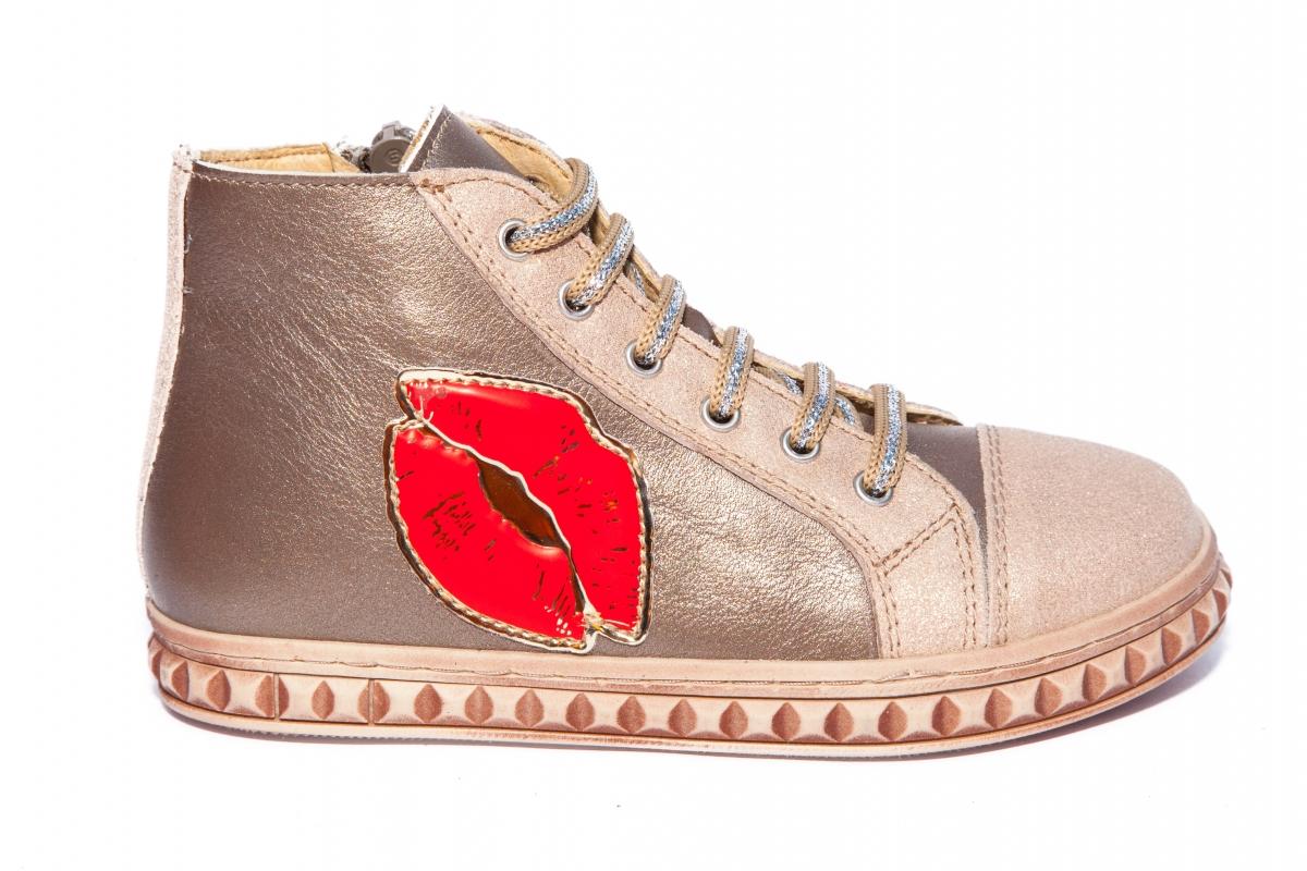 Ghete fete piele pj shoes Rebel argintiu 27-36