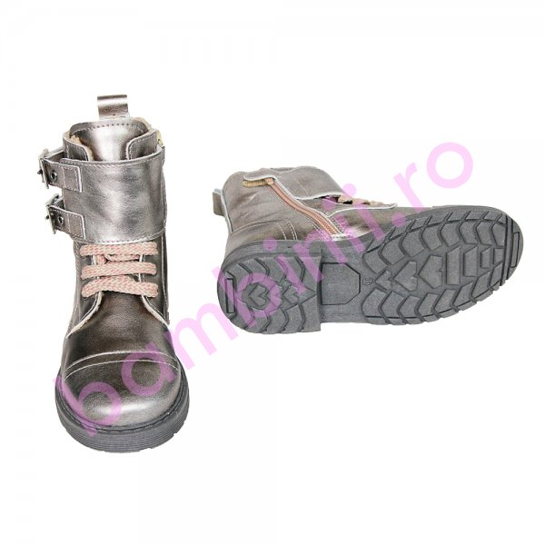 Ghete fete pj shoes Army argintiu 31-36