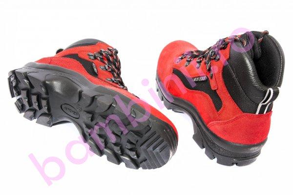 Ghete GT Tex copii waterproof 11260 rosu negru 36-40
