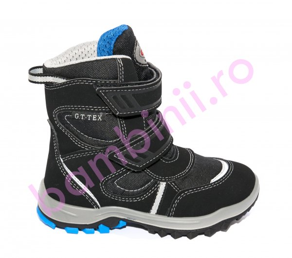 Ghete impermeabile baieti goretex 85407 negru albastru 25-39