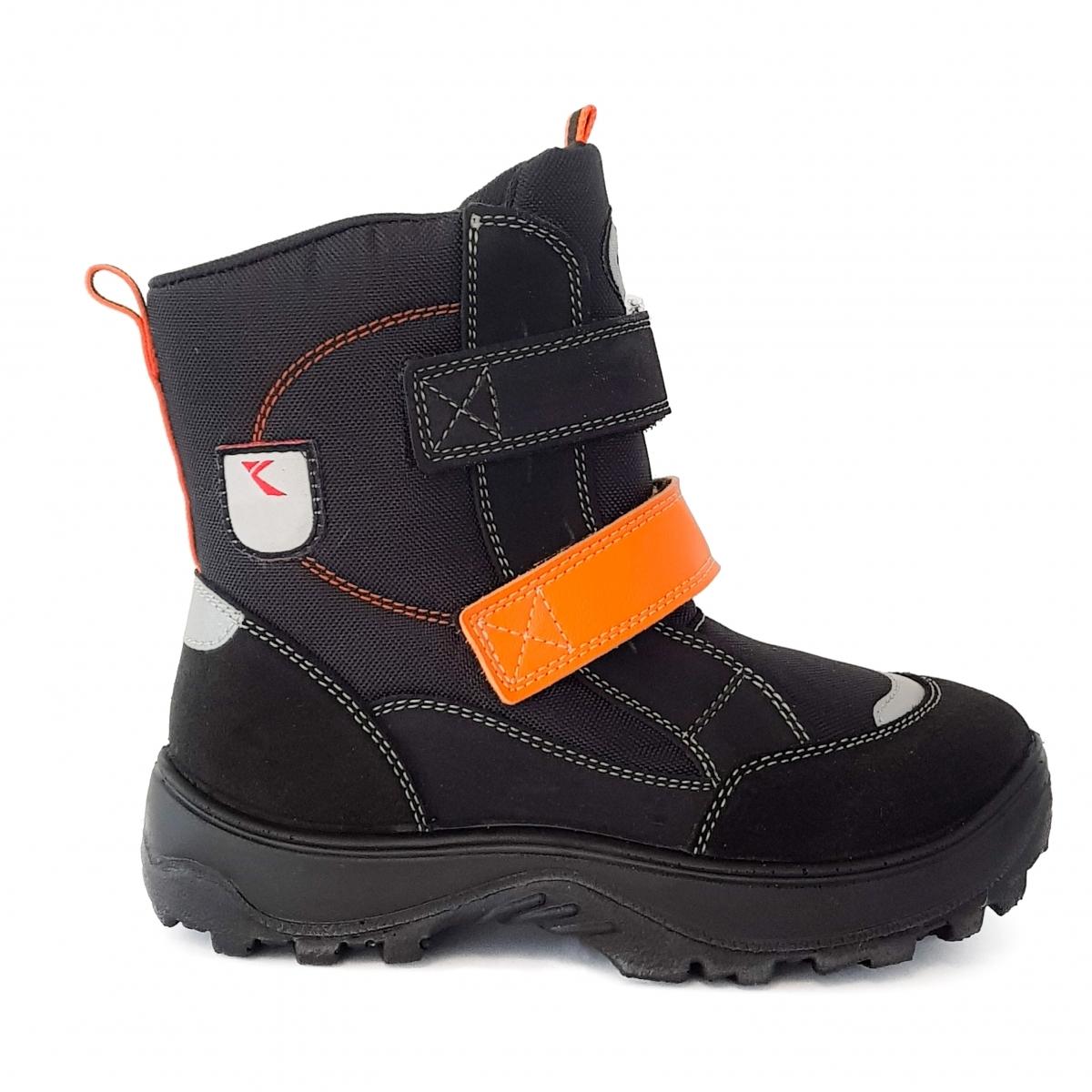 Ghete impermeabile copii blana GT tex 93311 negru orange 20-25