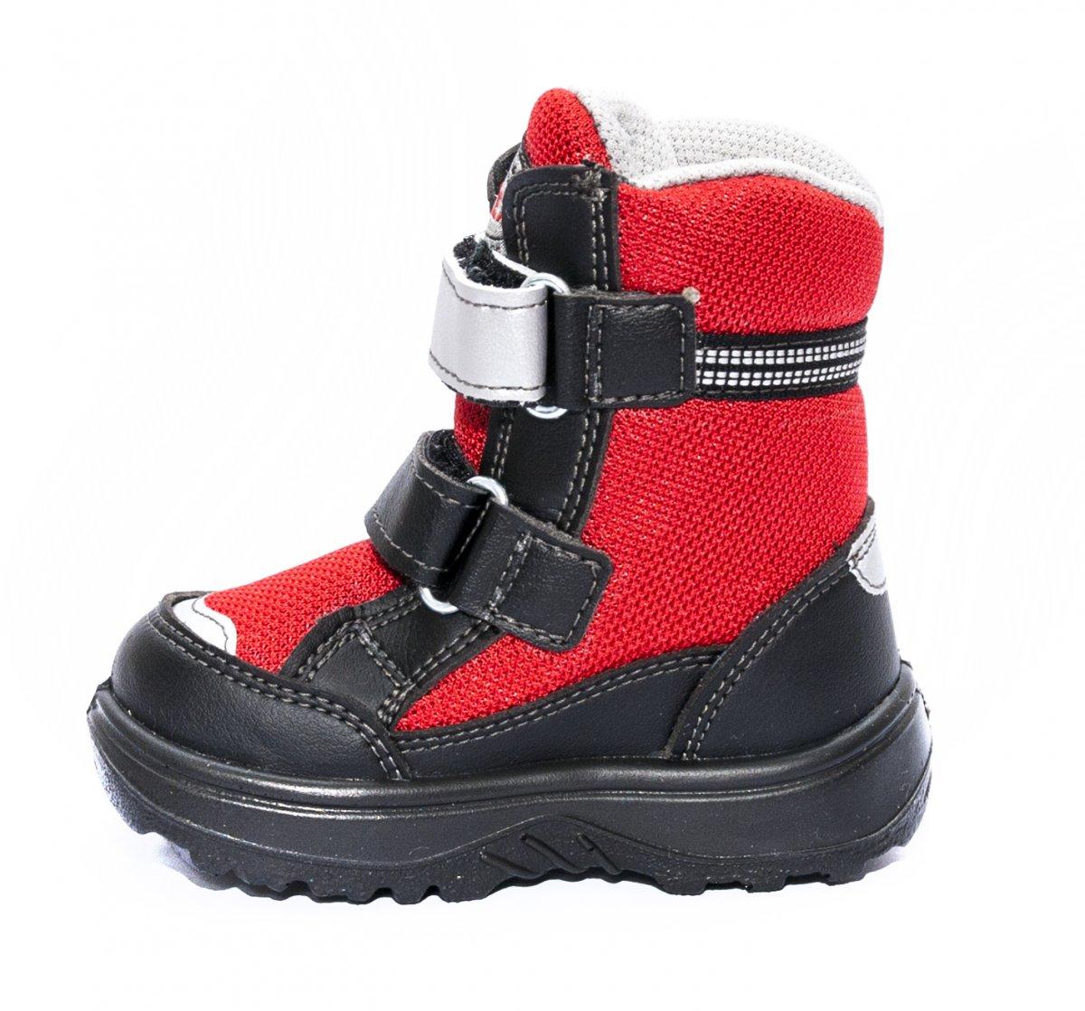 Ghete impermeabile copii cu blana gt-tex 93312 negru rosu 20-25