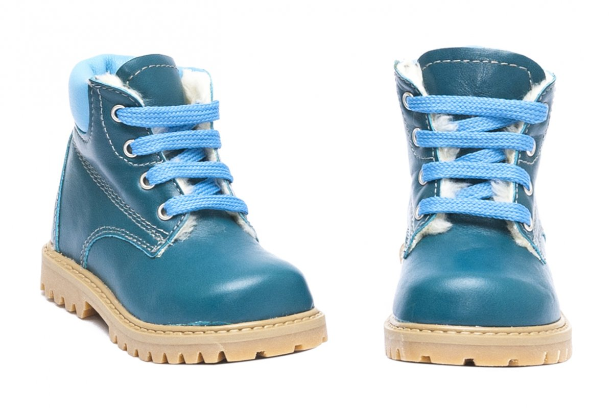 Ghetute copii blana pj shoes Luca albastru turcoaz 20-26
