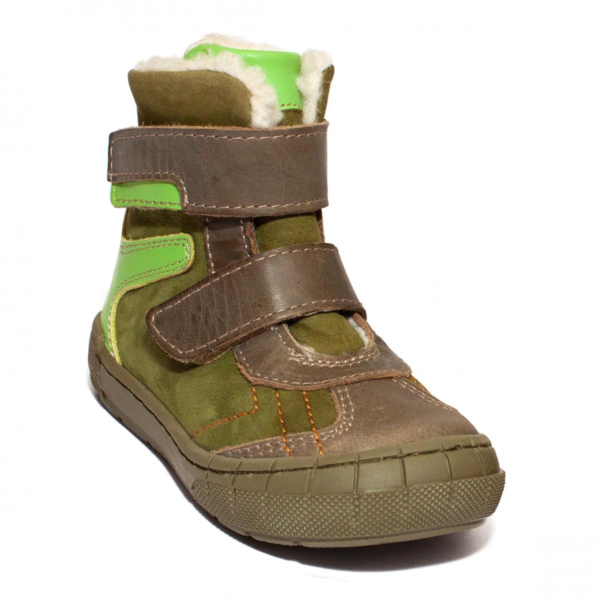 Ghetute copii cu blana pj shoes Kiro verde 20-29