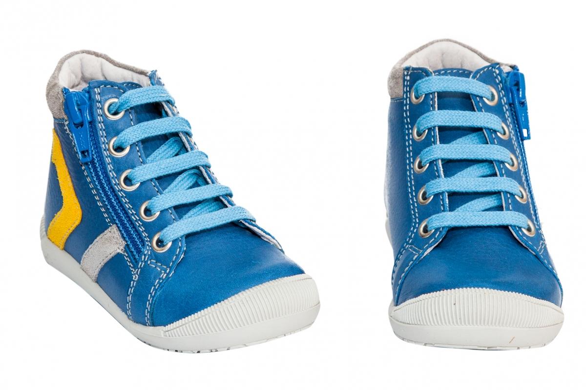Ghetute copii ortopedice hokide 377 albastru galben 18-24