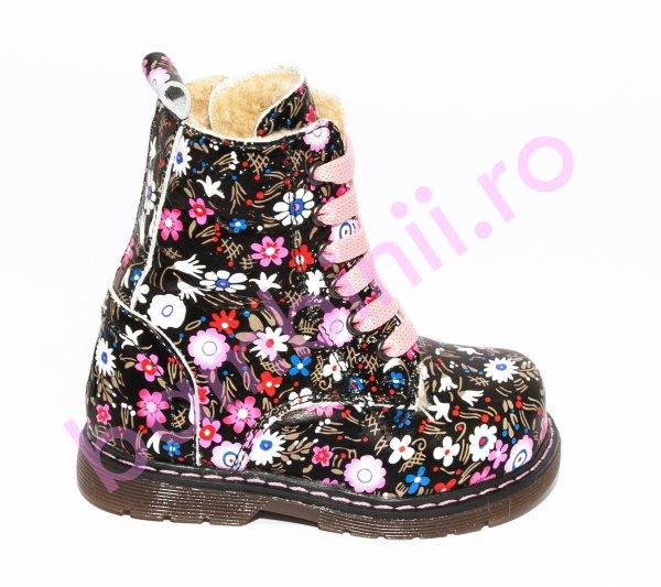 Ghetute fete cu blana pj shoes King print roz 20-26