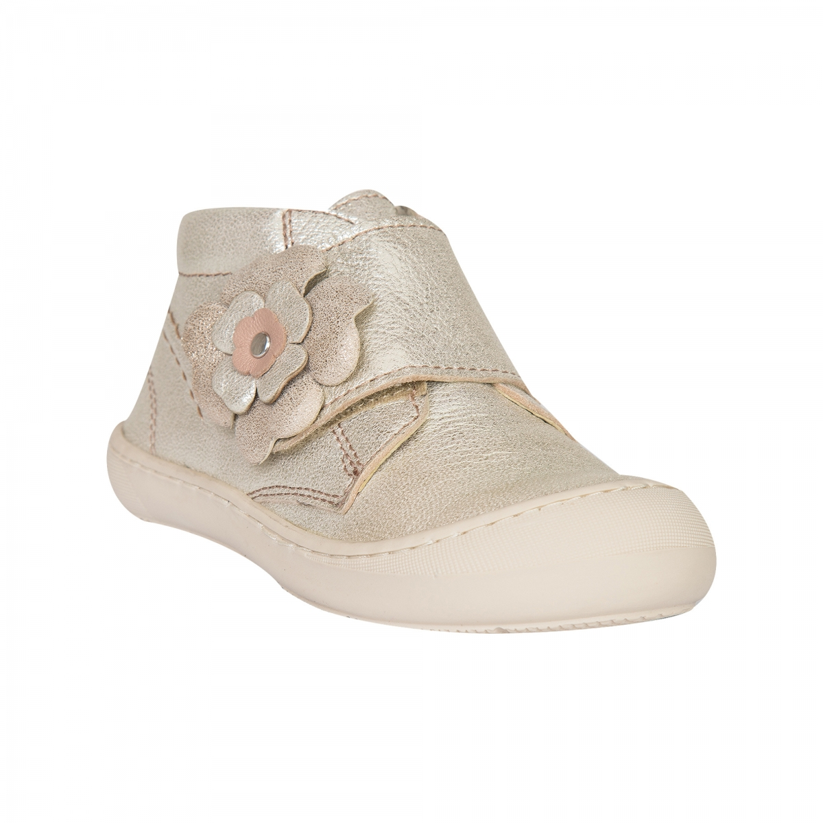 Ghetute fete flexibile din piele pj shoes Edy auriu 18-25