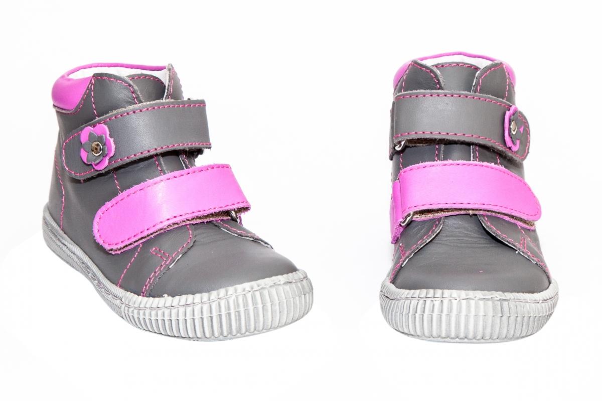 Ghetute fete flexibile hokide 417 gri roz 18-24