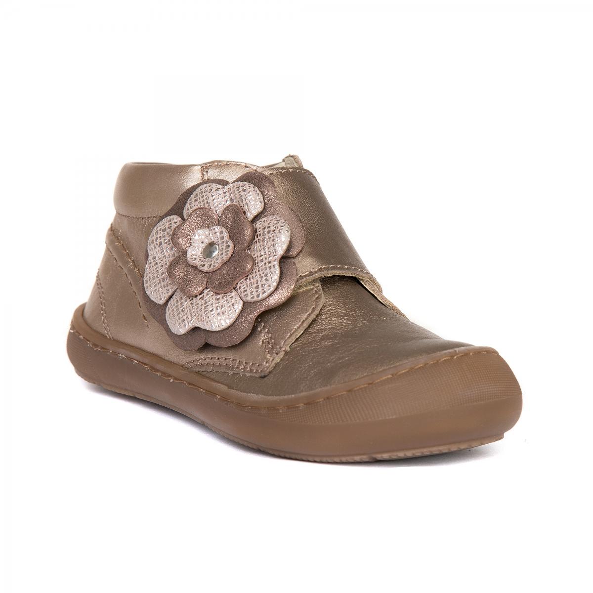 Ghetute fete flexibile din piele pj shoes Edy roz print 18-25