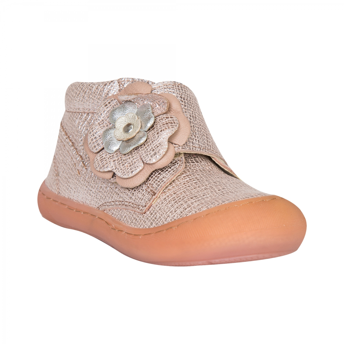 Ghetute fete flexibile din piele pj shoes Edy bronz 18-25