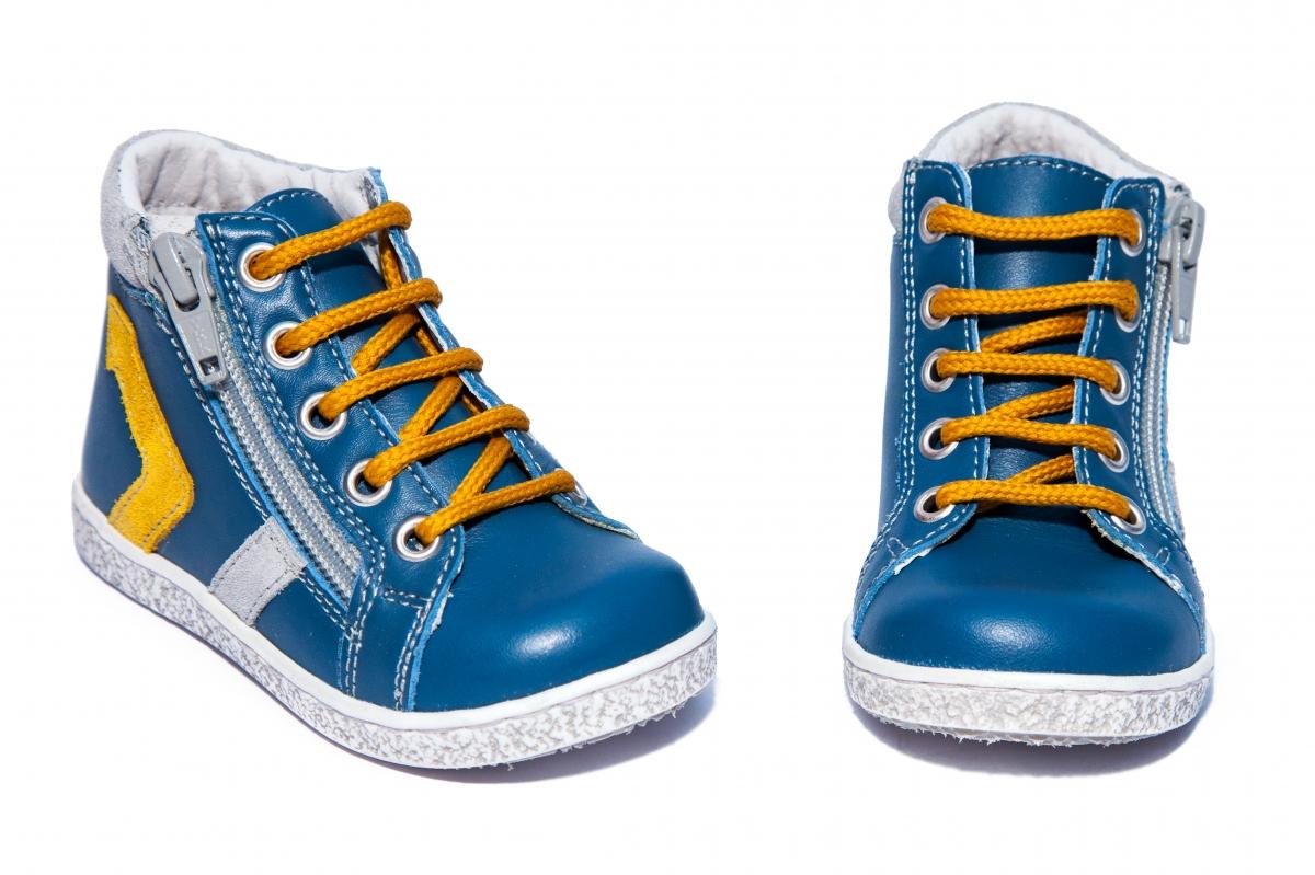 Ghetute ortopedice copii hokide 377 albastru galben gri 18-25