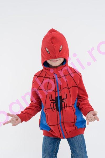 Hanorac baieti spiderman 2321 rosu blu 98-122