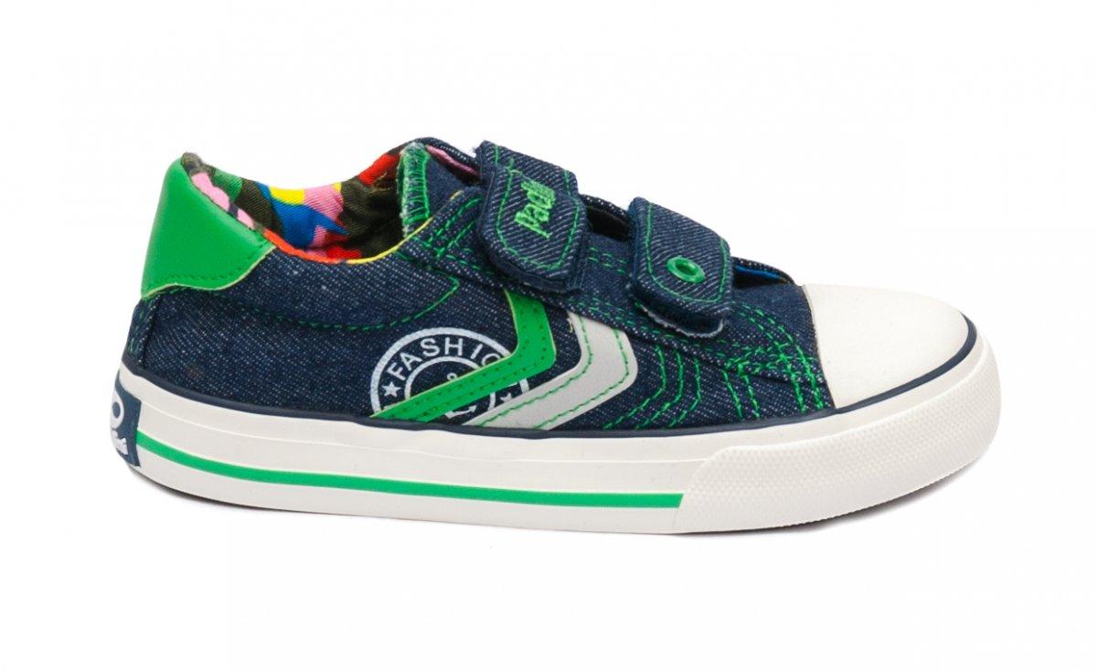 Incaltaminte baieti sport textil 60-6A blu verde 24-35