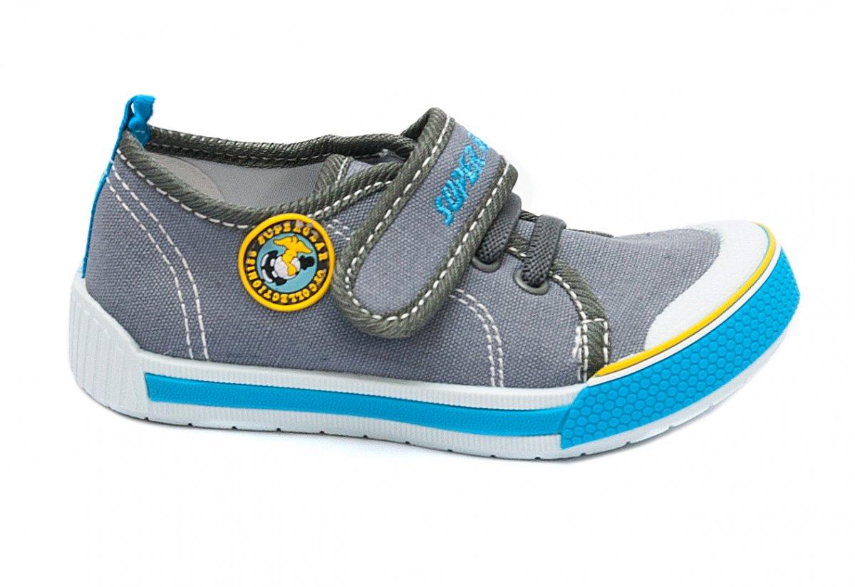 Incaltaminte baieti textil 9962 gri albastru 20-31