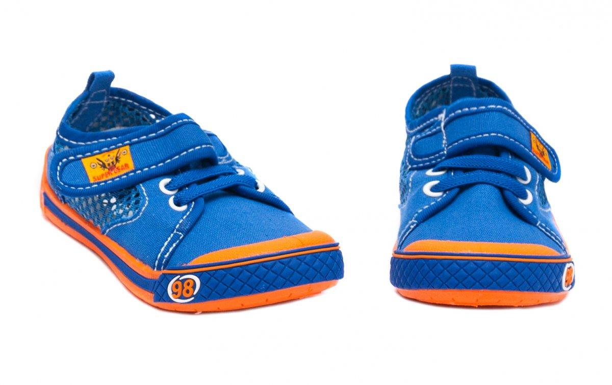 Incaltaminte baieti textil cu gaurele 9912 albastru port  26-35