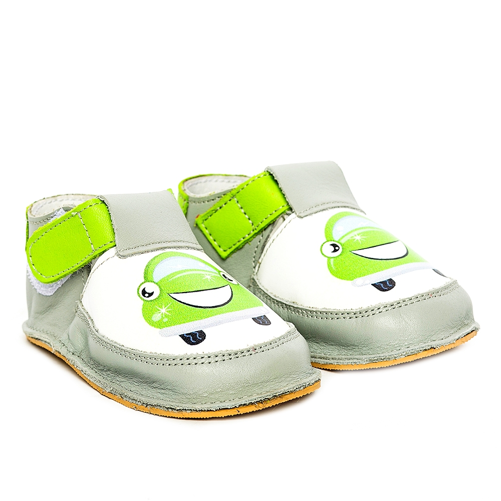 Pantofi copii cu talpa foarte moale Woc 002 negru minge 18-25