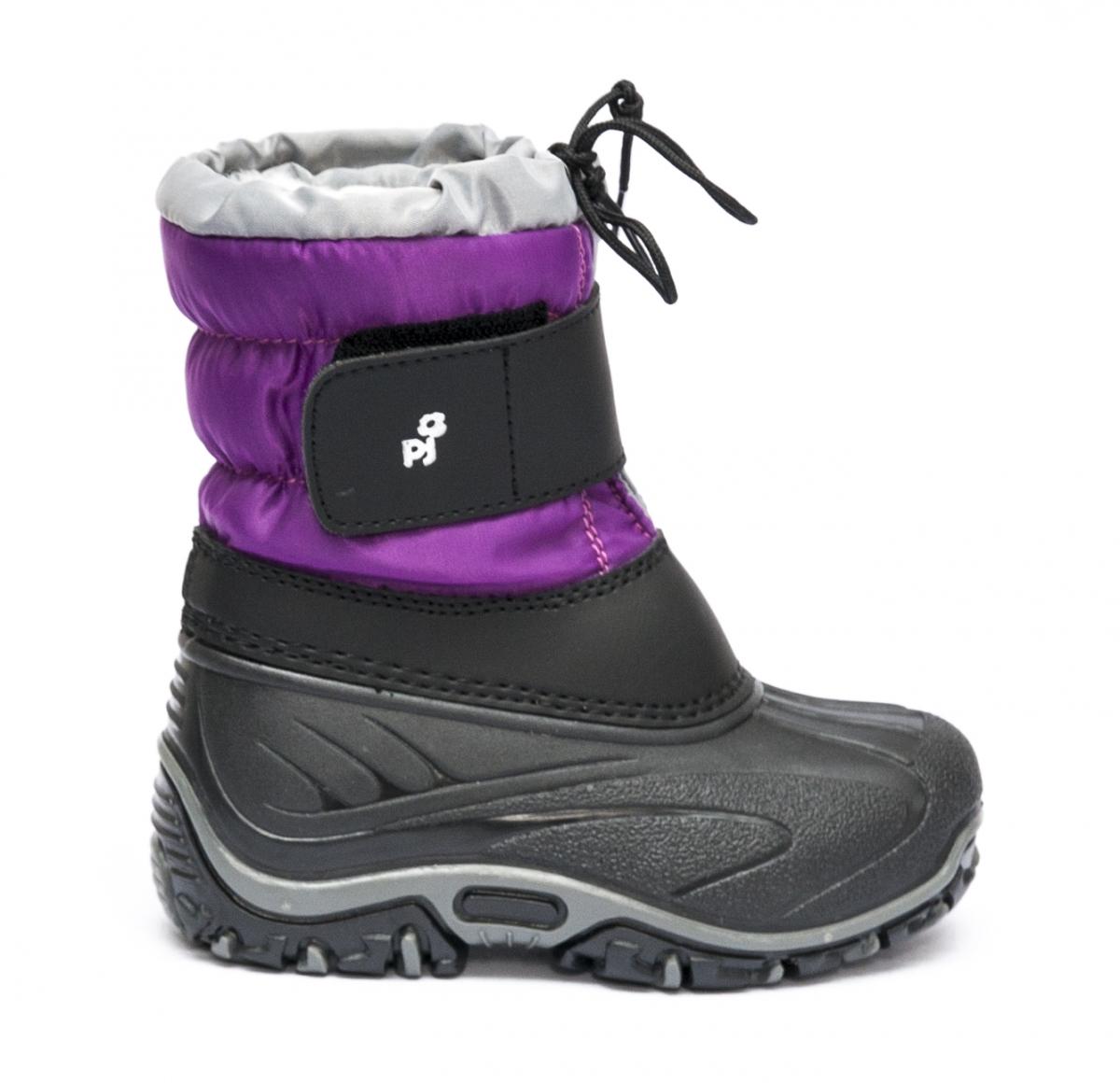 Incaltaminte copii de iarna cu blana pj shoes Fun rosu negru 21-36