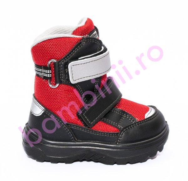 Incaltaminte copii iarna gore-tex 93312 negru rosu 20-25
