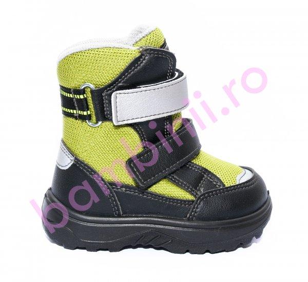 Incaltaminte copii iarna gt-tex 93312 negru verde 20-25