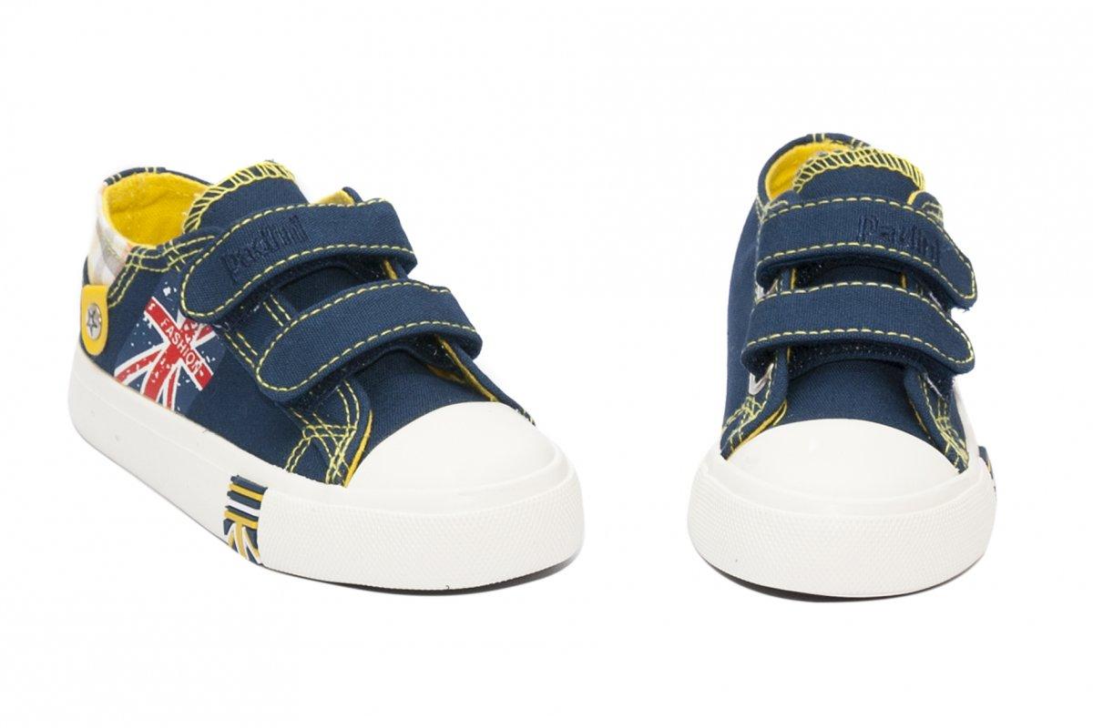 Incaltaminte copii sport textil 60-7A albastru galben 24-35