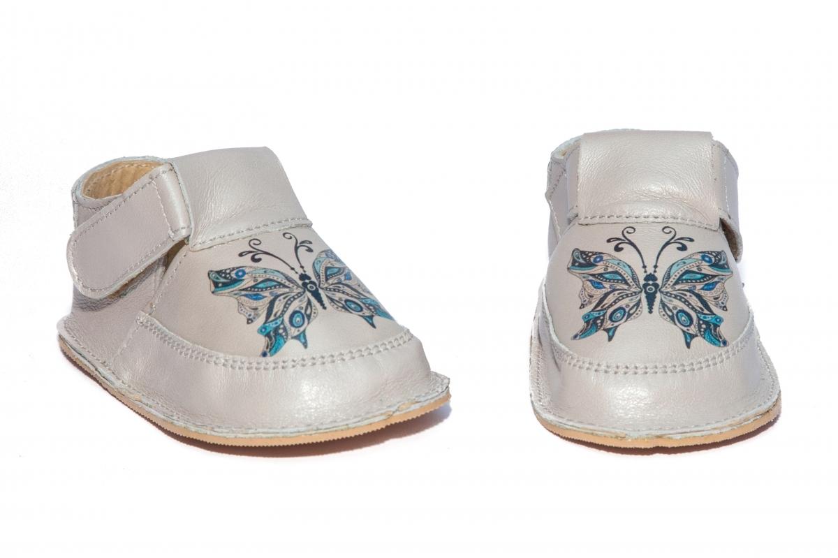 Incaltaminte fete cu talpa foarte moale Woc 008 gri fluture 18-25
