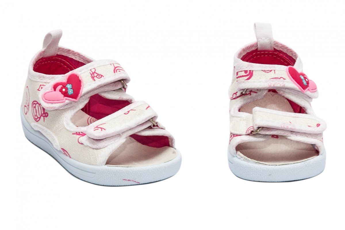 Incaltaminte fete flexibila brant din piele 1230 alb roz 20-25