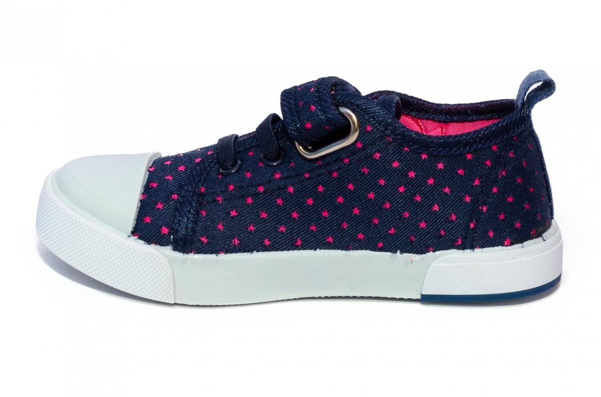 Incaltaminte fete textil 1292 blu roz 26-31