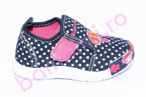 Incaltaminte fete textil 987 blu roz 20-25