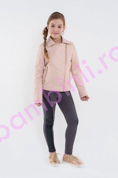 Jacheta fete piele 1028 roz 134-168cm