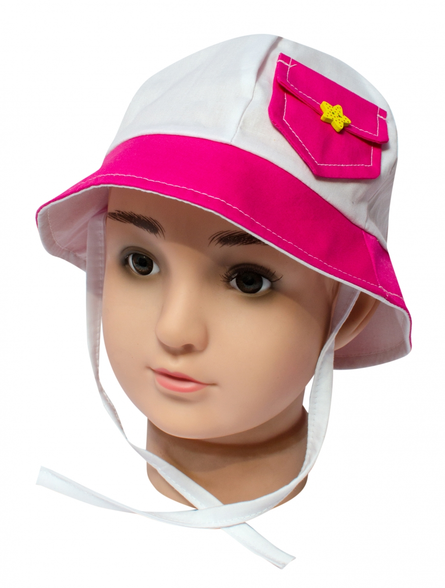 Palarie fete de vara pl20 alb roz 44-48
