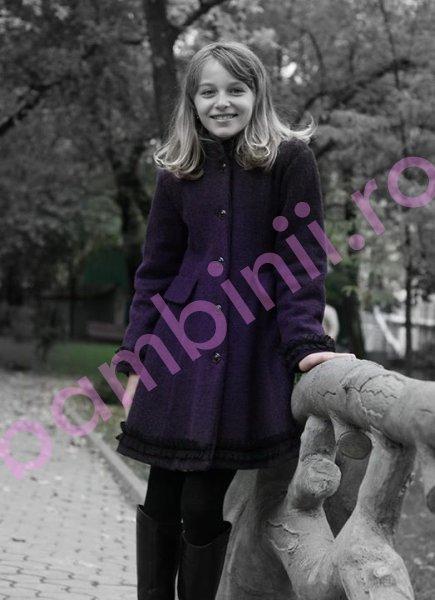 Paltoane fete de iarna 775 mov 6-10ani