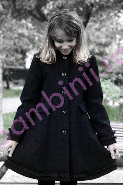 Paltoane fete de iarna 775 negru 6-10ani