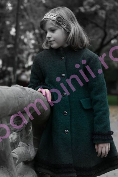 Paltoane fete de iarna 775 verde 6-10ani