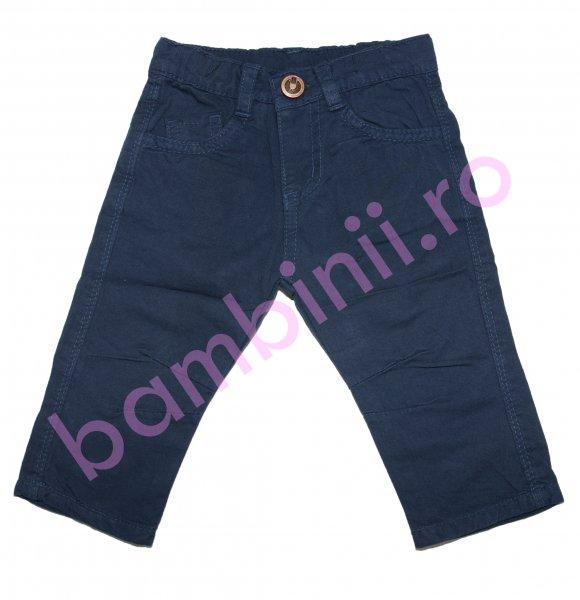 Pantaloni baieti trei sferturi 8078 blu