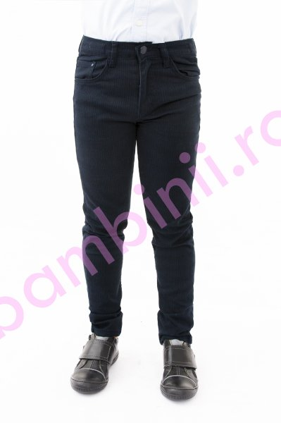 Pantaloni baieti eleganti 20034 blu 116-152cm