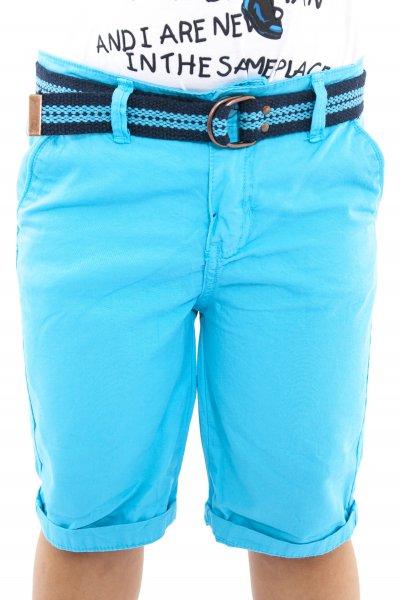 Pantaloni baieti scurti 1626 turcoaz 110-134 cm
