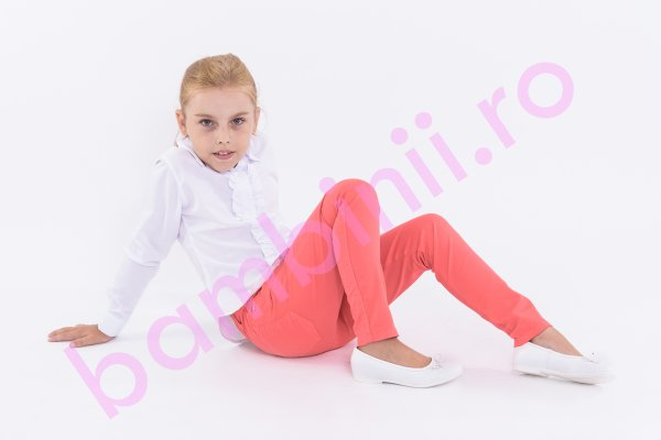 Pantaloni copii 6010 corai 134-158