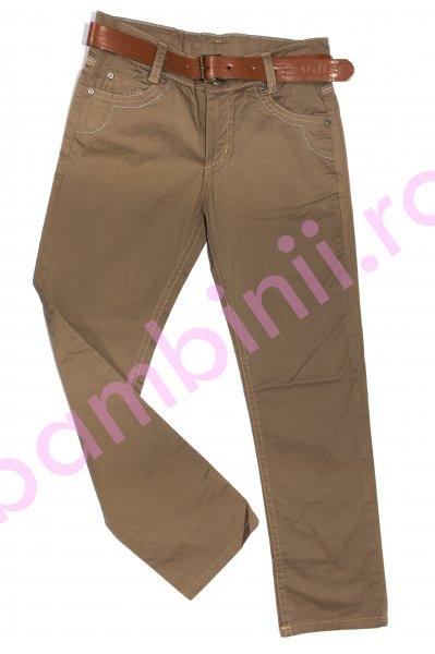 Pantaloni copii 7985 maro 3-14ani