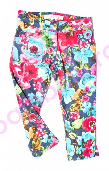 Pantaloni fete 3947 flori colorate 116-158cm