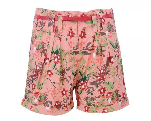 Pantaloni fete scurti 8194 roz flori 96-146