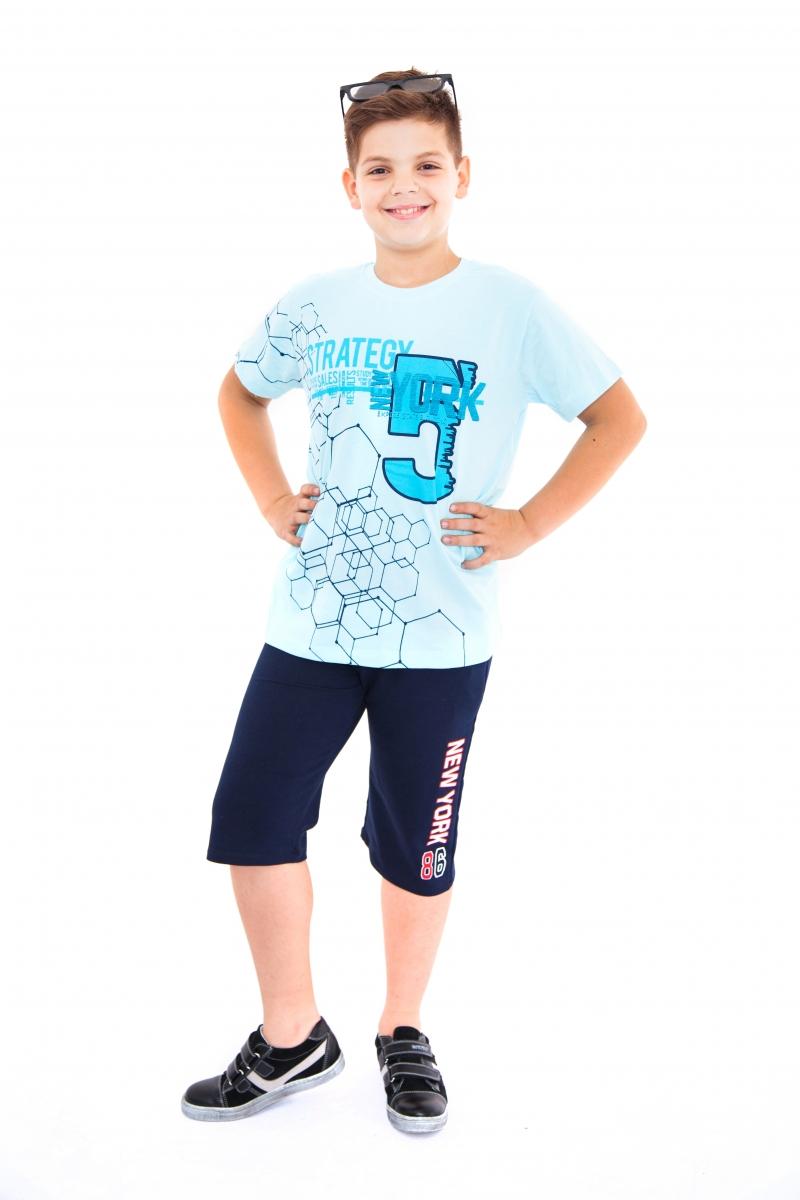 Pantaloni scurti baieti 761 blu 128-164cm