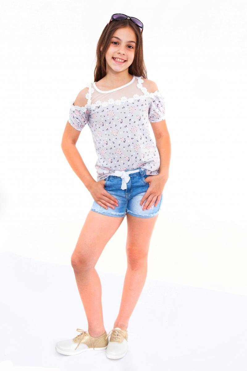 Pantaloni scurti fete de blug 855 blug 134-164cm