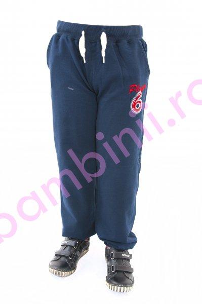 Pantaloni trening baieti 3944 blu 104-128cm